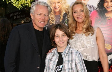 Lisa Kudrow and her husband, Michel Stern is posing for the camera along with their son, Julian Murray Stern while attending the Summit Entertainment's premiere of BandSlam.