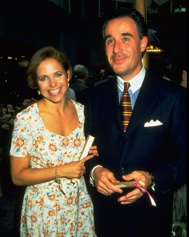 Katie Couric is holding the right arm of her late husband Jay Monohan