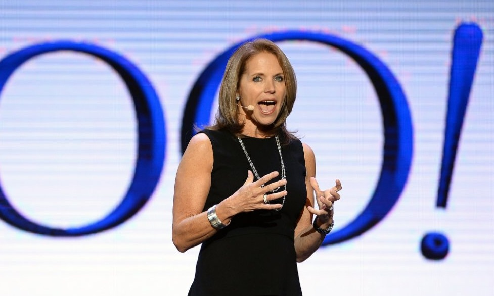 Katie Couric at speaking on stage at the 2014 Cannes Advertising Festival in Las Vegas. It was when she was started working as a global anchor for Yahoo! News