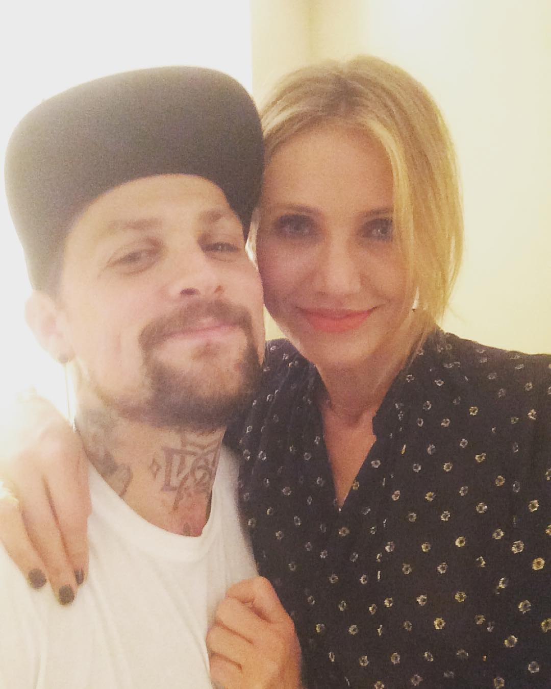 Benji Madden Taking Selfie with his wife Cameron Diaz