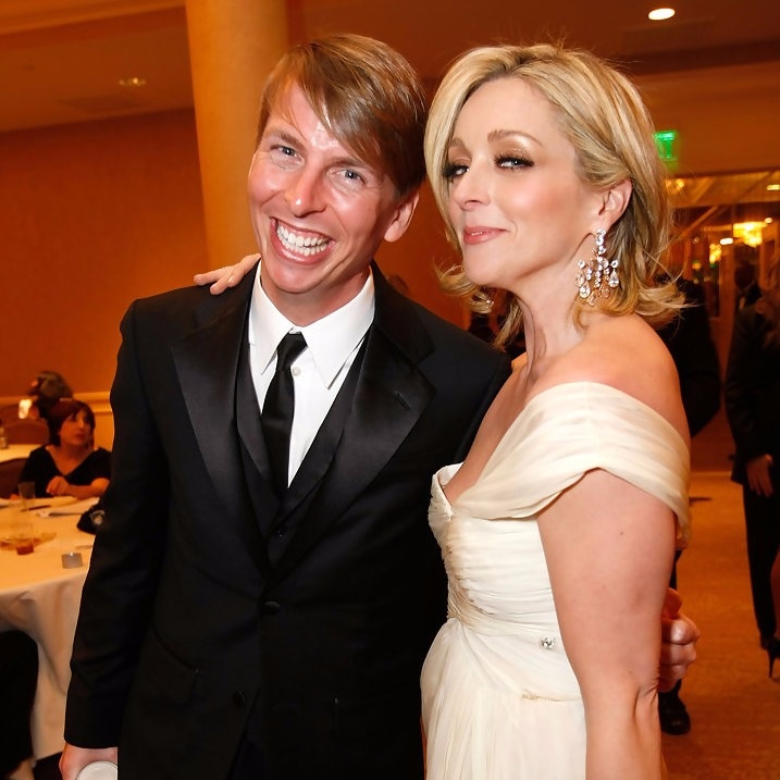 Jack McBrayer attending an event with his '30 Rock' co-star Jane Krakowski