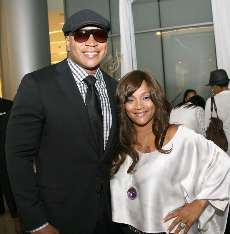 LL Cool J is with his wife Simone Smith. They are smiling at the camera.