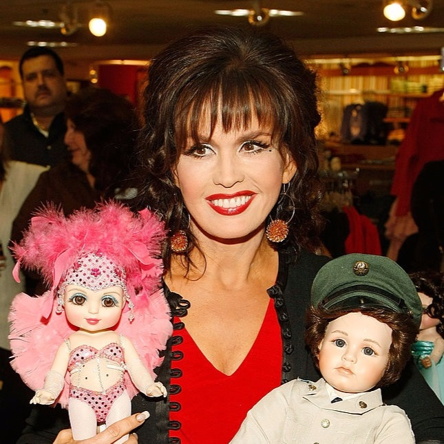 Marie Osmond with dolls