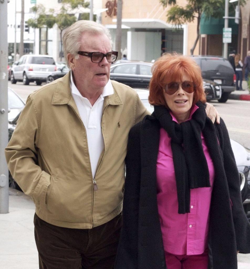 Jill St. John with her husband Robert Wagner enjoying a day out