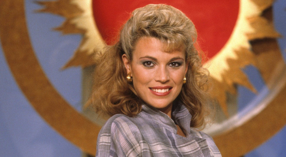 Young Vanna White during her early career days.  Vanna made her first appearance in the popular game show Wheel of Fortune in 1982.