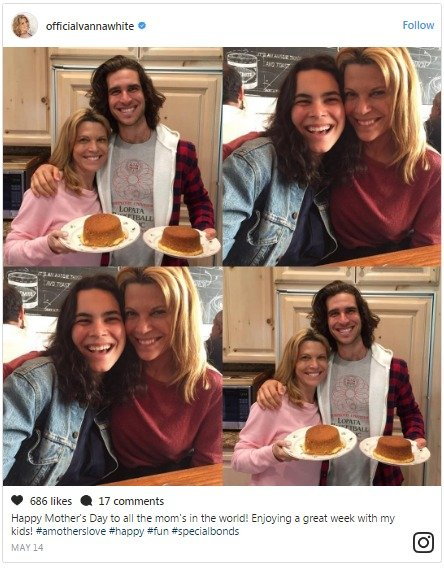 Vanna White's kids Niko and Gigi bake cakes for her on the mother's day