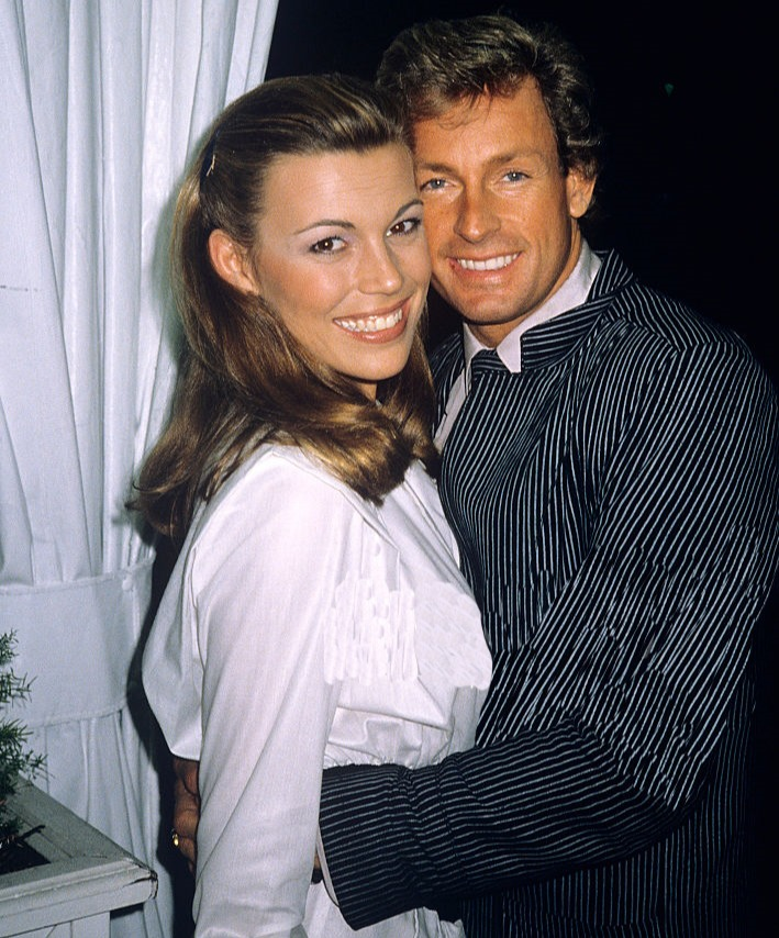 Vanna White with her fiance John Gibson back in 1980. John died in a plane crash in 1986