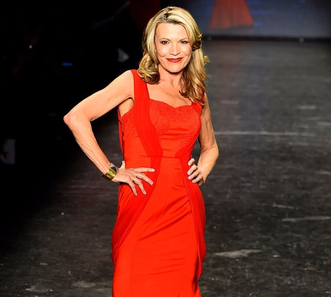 'Wheel of Fortune' co-host, Vanna White walking runway at American Heart Association's Go Red for Women Red Dress Collection 2016 in New York City in 2016