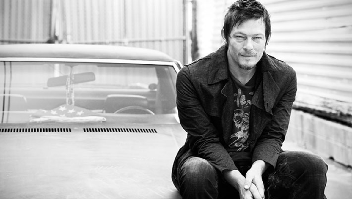 Norman Reedus on the car