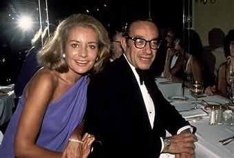 Journalist Barbara Walters and businessman Alan Greenspan together
