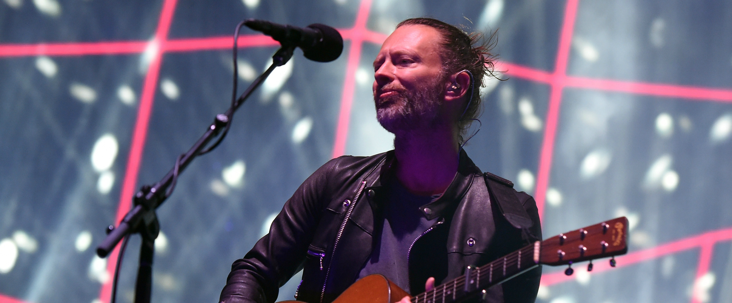 Thom Yorke performing at a concert