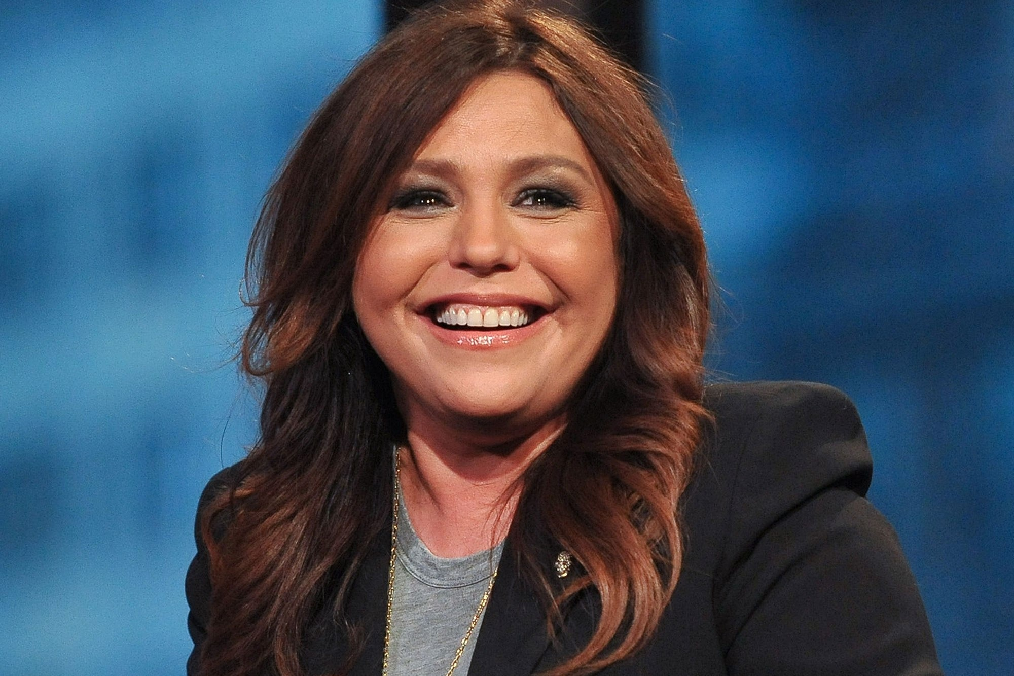 Rachael Ray giving her million dollar smile. She is a host of her syndicated daily talk show Rachael Ray