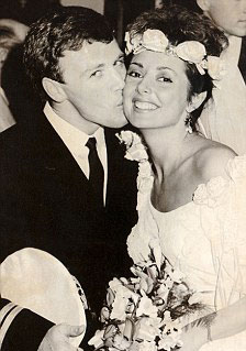 Carol Vorderman and first husband Christopher Mather on their wedding day in 1985