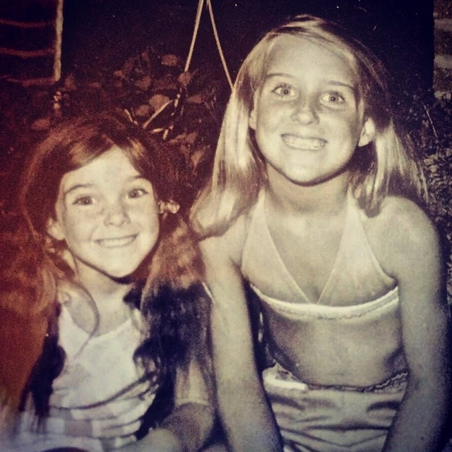 Heather Childers with her sister