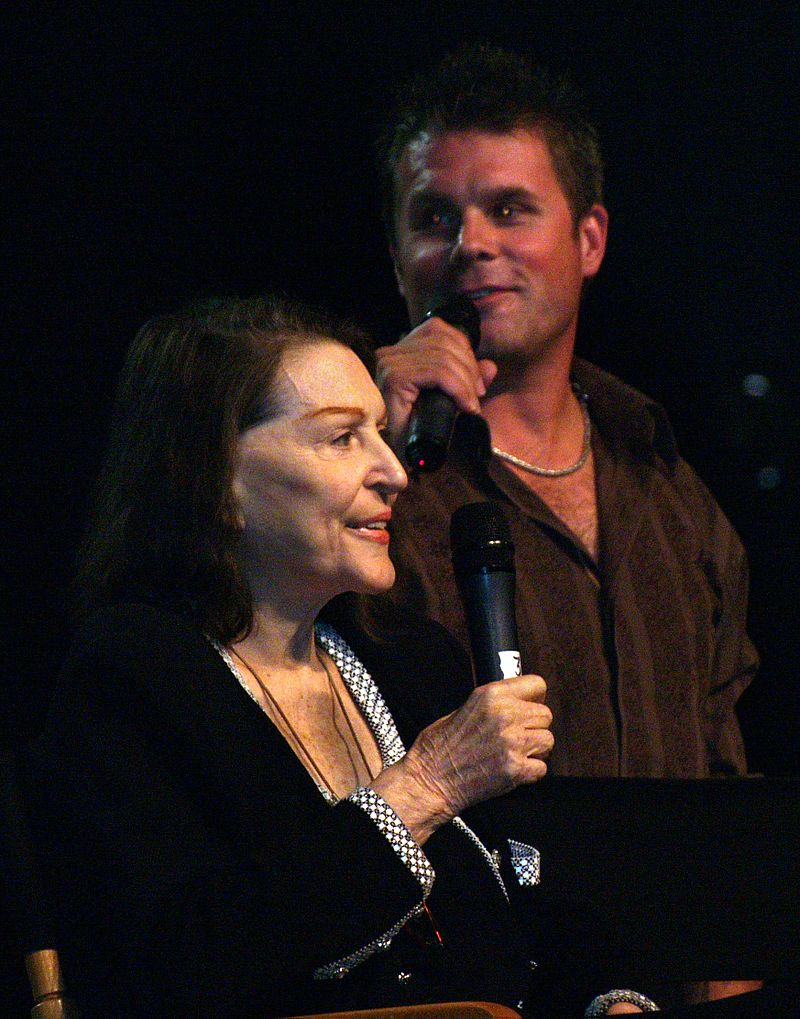 Majel with someone on the stage