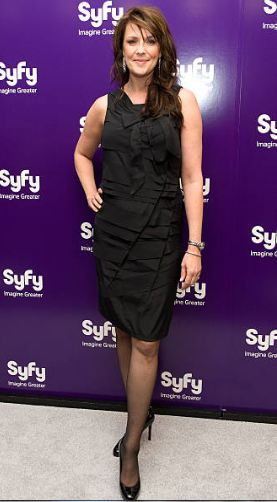 Actress Amanda Tapping attends the SYFY 2010 Upfront Party