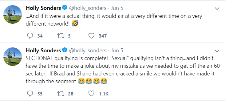 Holly Sonders tweet