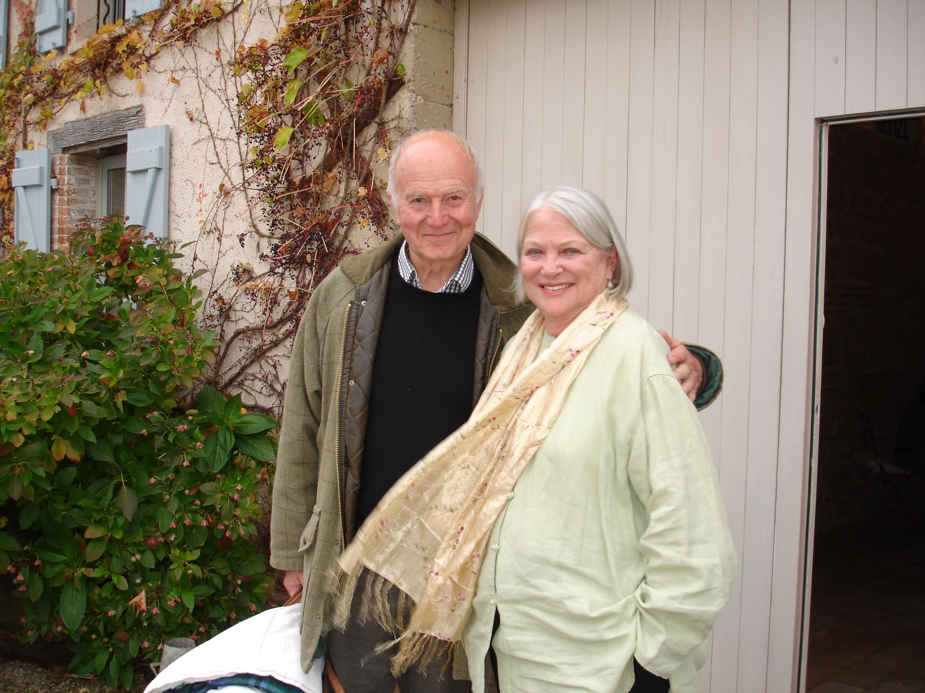 Louise Fletcher and Jerry Bick hugging them in their old age