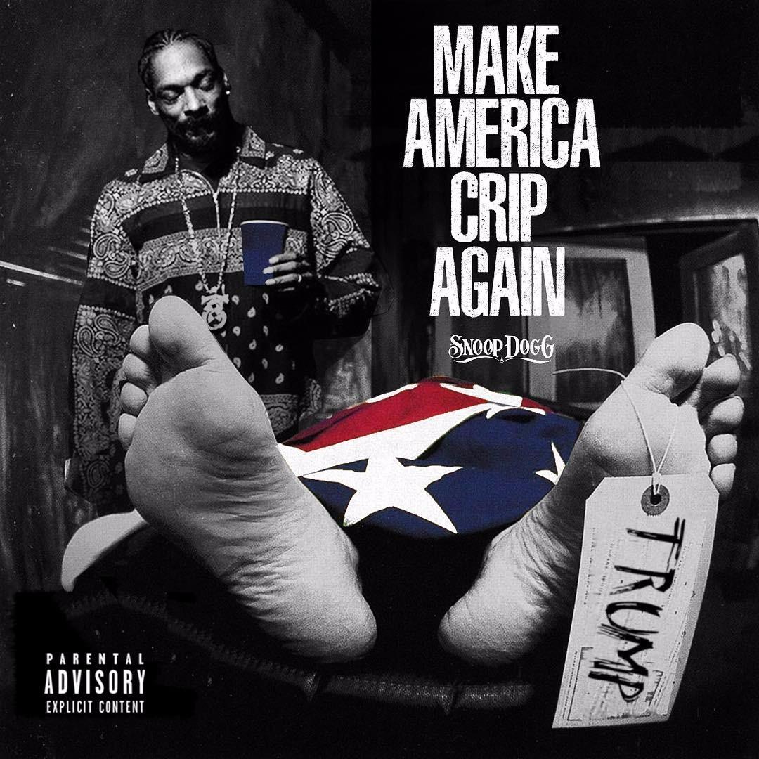 Snoop Dogg album cover for Make America Crip Again
