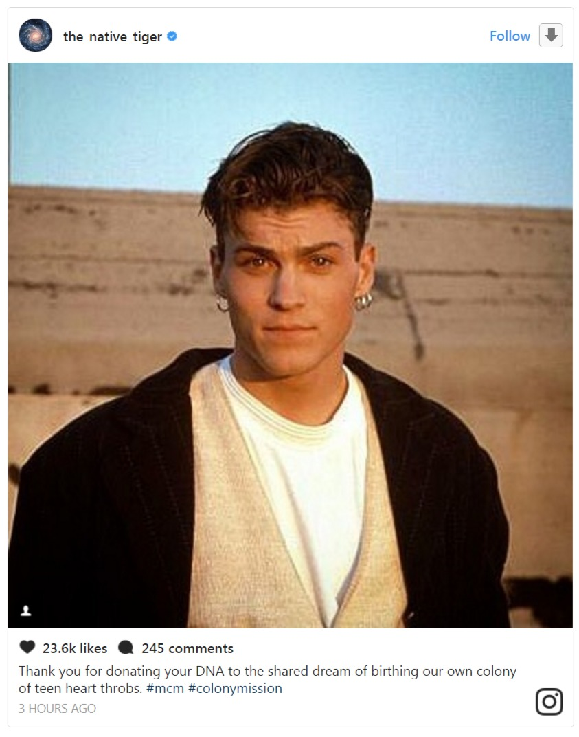 Megan Fox posted an old picture of her husband Brian Austin Green on her Instagram to show her gratitude towards him.