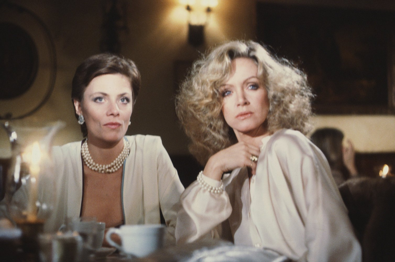 Abby Cunningham with other star from the Knots Landing. They are looking other suspiciously.