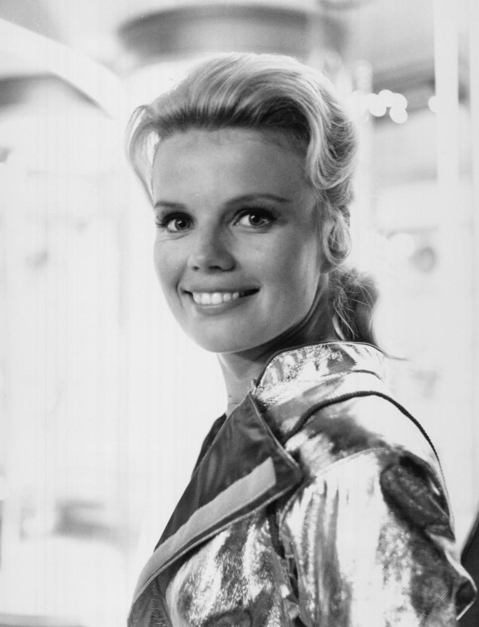 B&W photo of smiling Marta Kristen