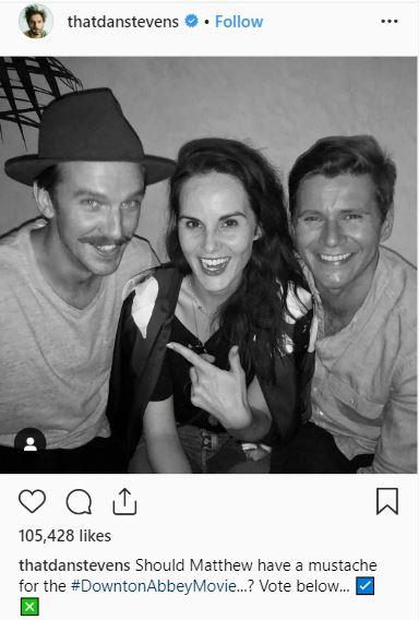 Dan Stevens Instagram post