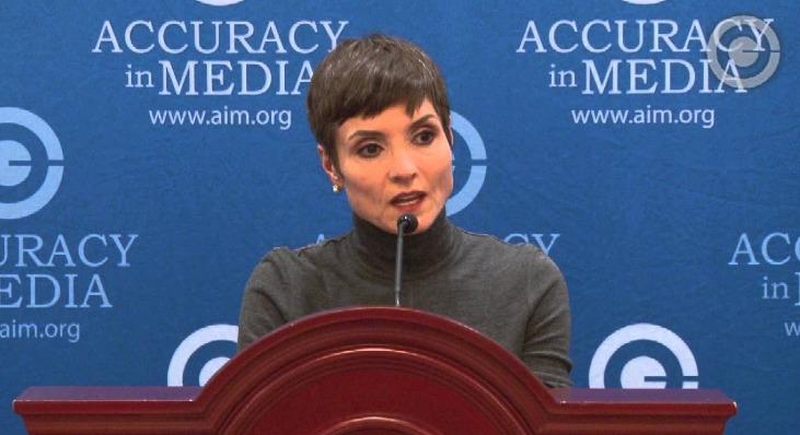 Catherine Herridge reached the AIM Award ceremony, wearing a turtle necked black dress.