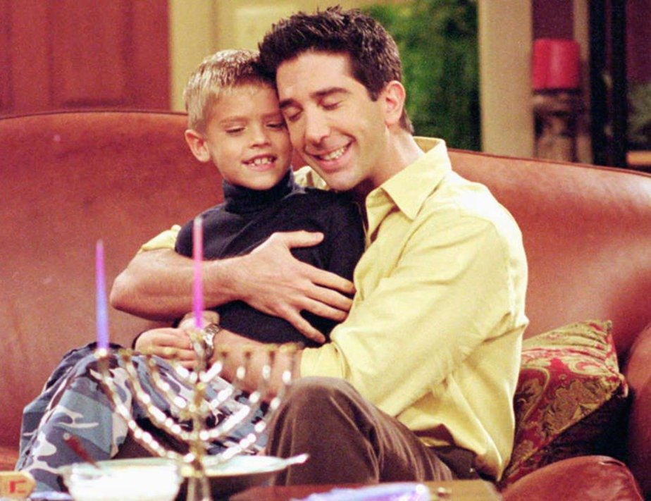 Cole Sprouse played a role of David Schwimmer's son in sitcom Friends.