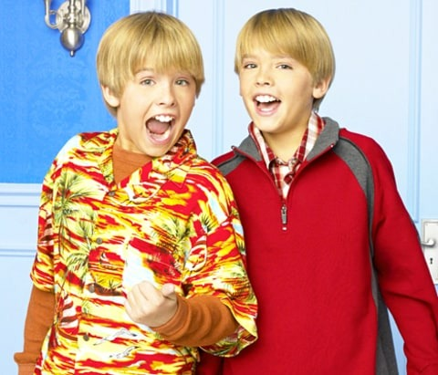 Identical twins in real life, Cole and Dylan Sprouse played as twins, Zack and Cody Martin in The Suite Life of Zack & Cody