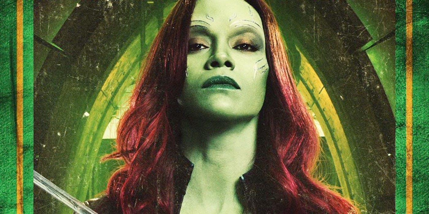 Zoe Saldana as Gamora has got some marks on her face
