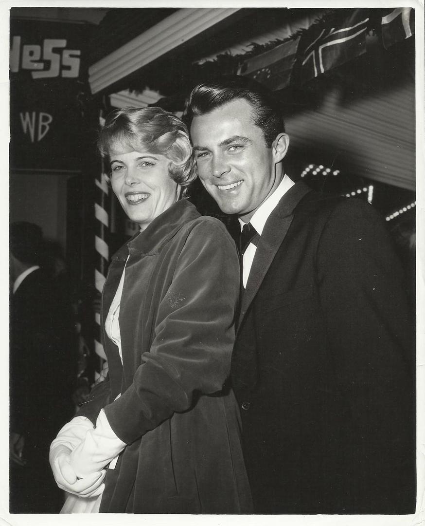 Robert Conrad with her wife Joan Kenley