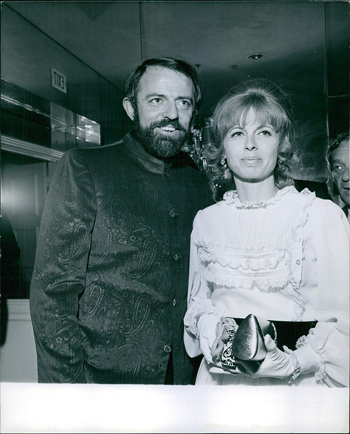 Black and White photo of Suzanne Hahn and John Astin