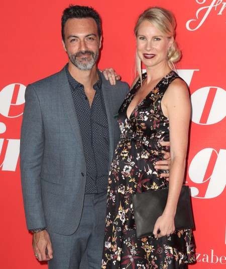 Reid Scott and wife Elspetch Keller at the premiere of Home Again