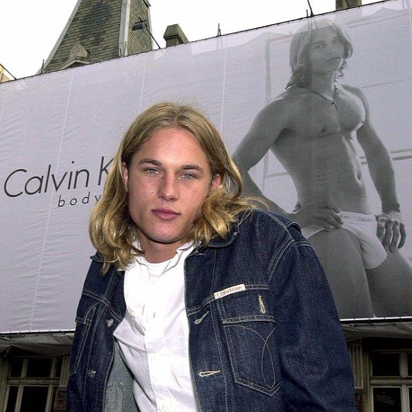 Travis Fimmel as brand model for Calvin Klein. He modeled fragrances and underwear of CK during early 2000s.