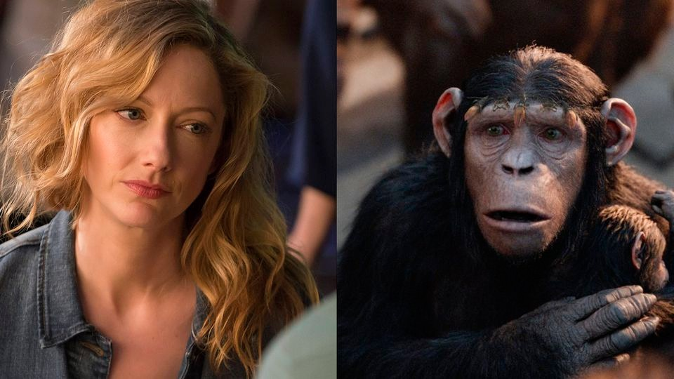 Judy Greer as the chimp Cornelia in the movie Planet of the Apes