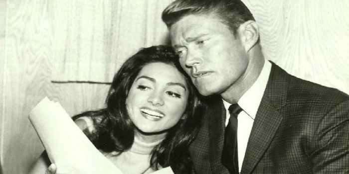 Chuck Connors with his second wife, Kamala Devi