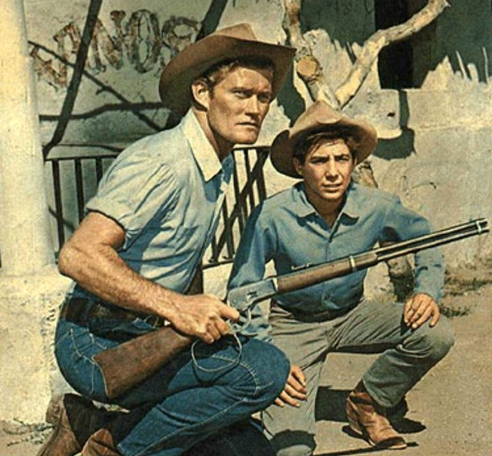 Chuck Connors in the series, The Rifleman