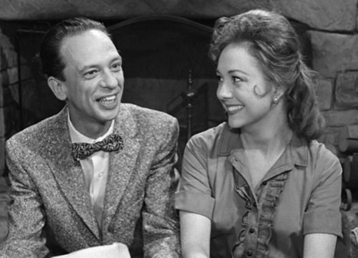 B&W photo of Barney and Thelma Lou sharing special moments