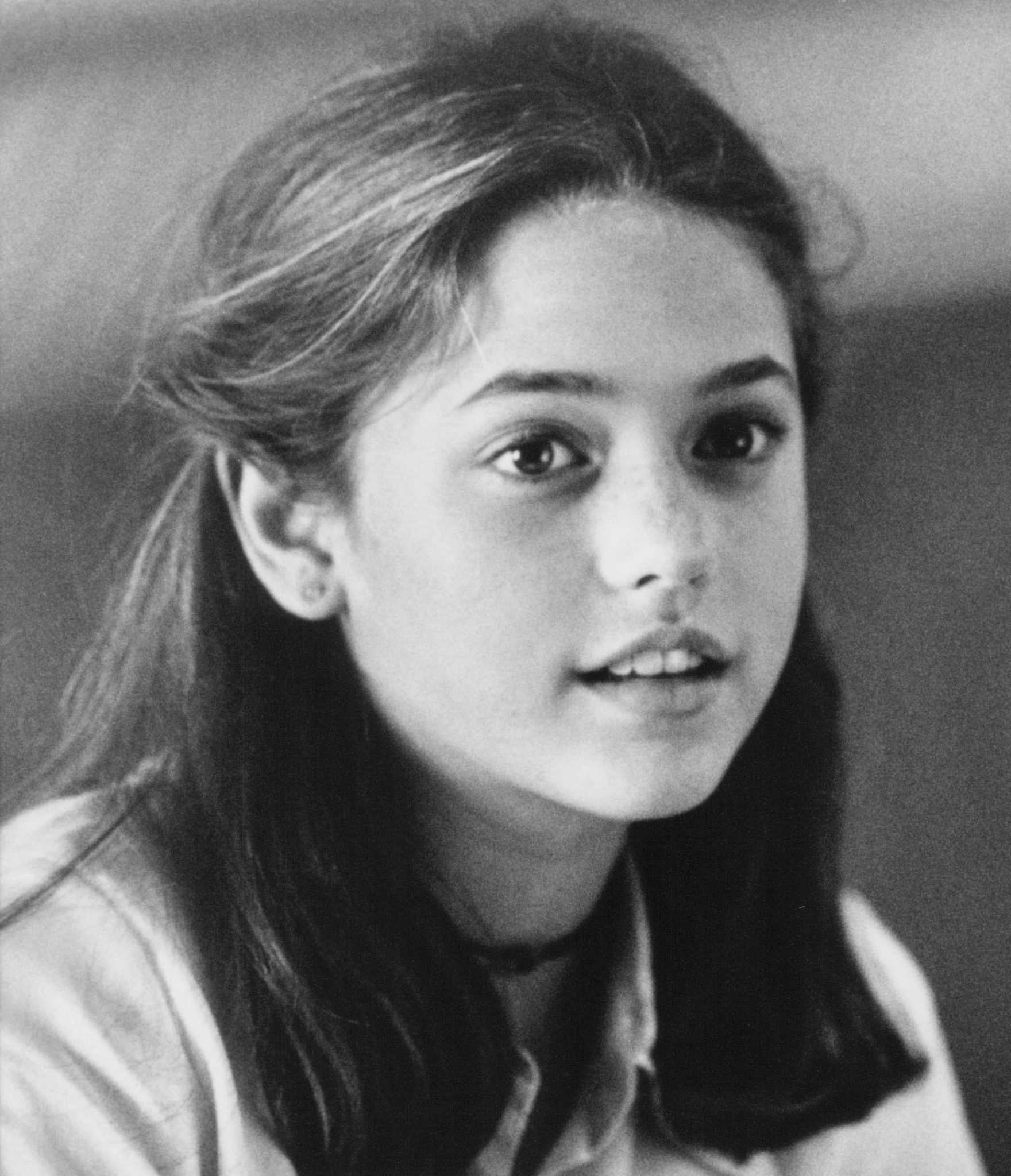 Highschool image of Liesel Pritzker. Liesel Pritzker is the daughter of Irene and Robert Pritzker. She is best known for appearing in 1995 movie, A Little Princess. She also starred along side Harrison Ford in movie Air Force One.