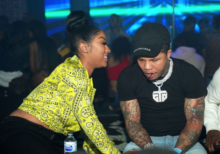 Social media influencer and American professional boxer Gervonta Davis at a bar. Following her breakup with rapper G Herbo, Ariana Fletcher and Gervonta Davis dated for few months in 2019