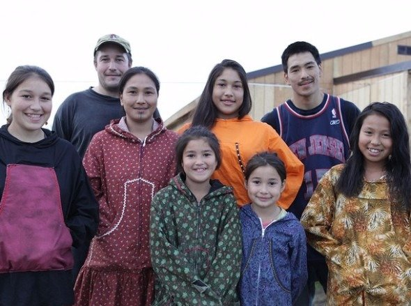 Chip Hailstone with his wife Agnes, sons and daughters Chip and Agnes Hailstone have seven children.