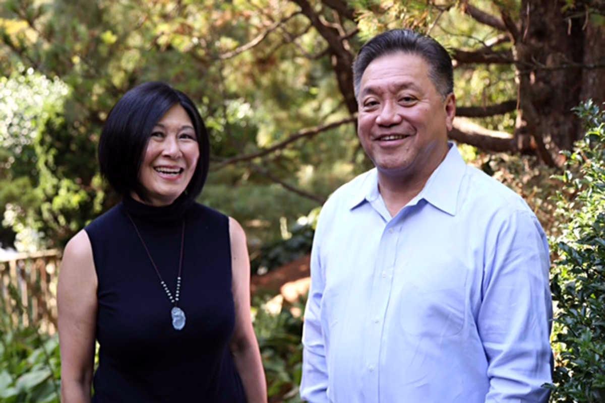 Hock Tan and wife Lisa Yang