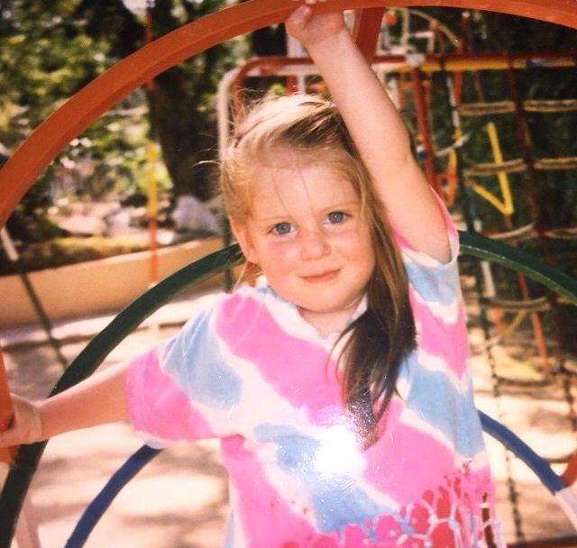 Meghan Trainor looks adorable as a kid, her chubby cheeks and deep blue colored eyes, make her look like a sweetheart.