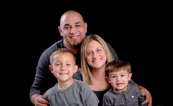 Allicia Shearer, Big Chief's wife with husband Justin Shearer and their two sons