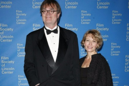 Jenny Lind Nilsson and husband Garrison Keillor attending an event in the Film Society of Lincoln Center.