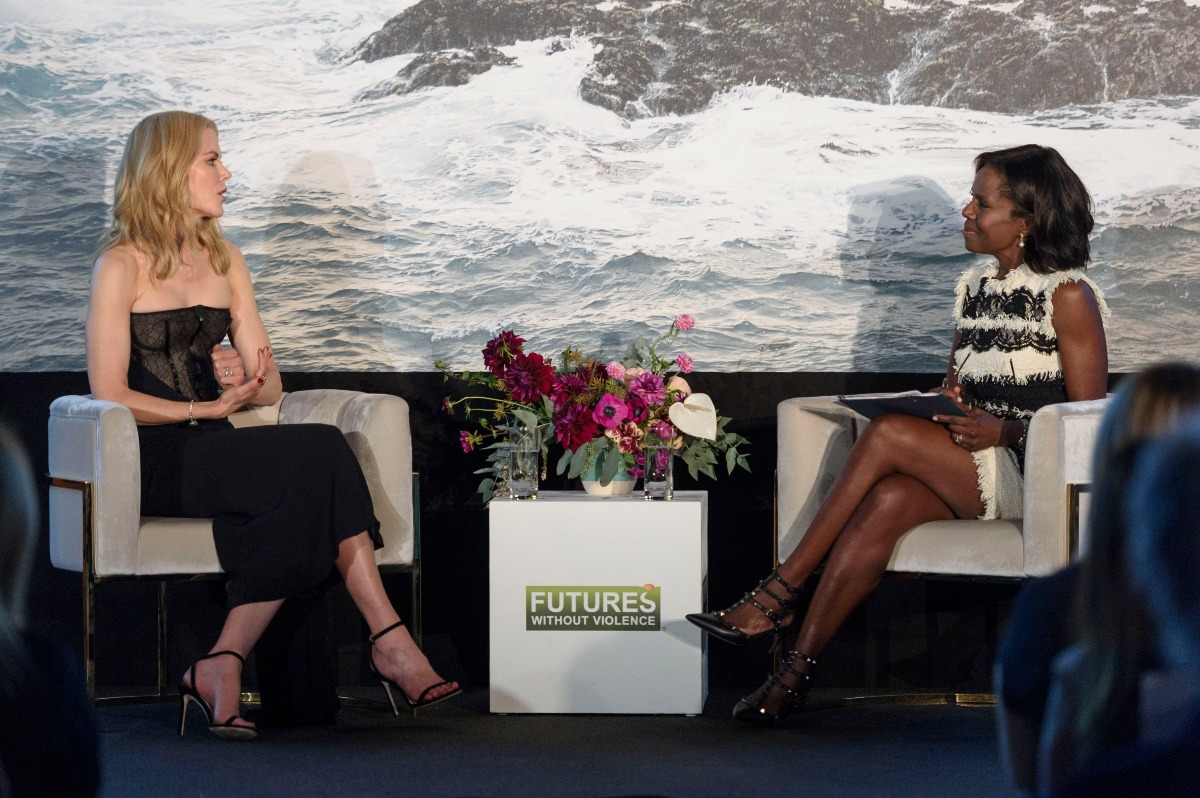 "Deborah is interviewing Nicole Kidman who played in an Emmy award winning film""Big Little Lies""."