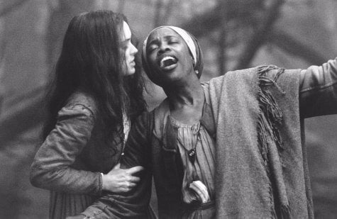 Abigail Williams and Tituba as portrayed in The Crucible