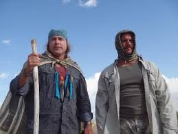 Cody Lundin is with Joe Teti whose real name is Joseph Teti. Both of them have their heads covered with scarf.