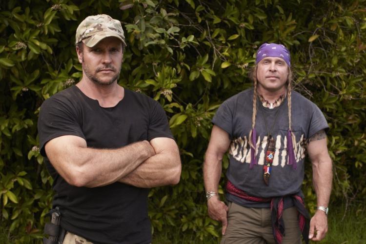 Joe Teti with Dual Survival co-star Cody Lundin